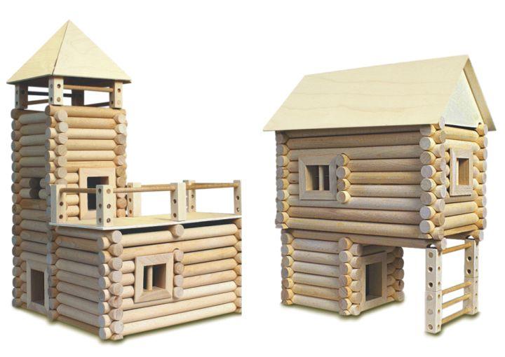 Holzbausteine für 17 verschiedene Gebäude und Häuser Holzwürfel – kopie