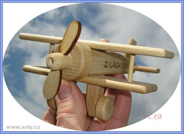 Flugzeug, Kinder Holzflugzeug – Doppeldecker Holzspielzeug