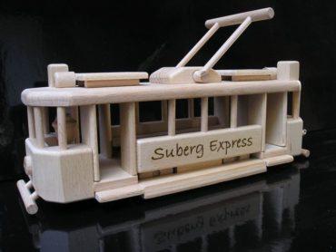 Holzspielzeug || Straßenbahnen Holzgeschenke für Fahrer