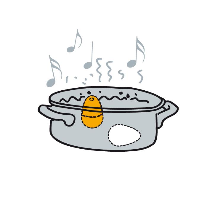 Küchentimer zum Kochen von Eiern Musik Eierkocher BeepEgg