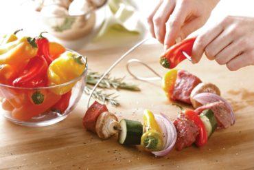 Extra lange Edelstahl-Grillspießnadel für kleinen und großen Grill