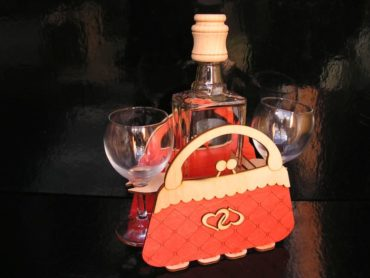 Geschenk Handtasche Tasche Flasche für Frau Dame