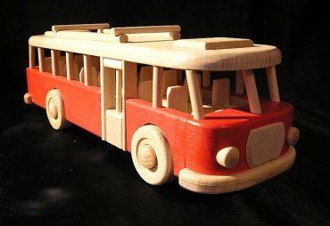Kinder Bus, Rot, Spielzeug