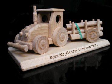 Holzgeschenke für Schubkarrenfahrer