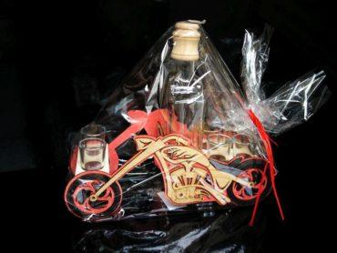 Geschenk, Flasche, Alkoholglas