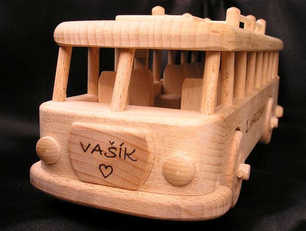 Retro Kinderspielzeugbus