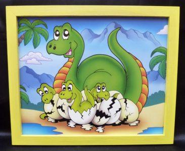 Brontosaurus - Gemalte Bilder für ein Kinderzimmer