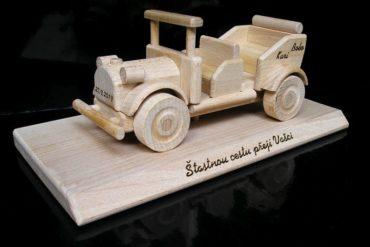 Spielzeugauto, Veteranenauto, Veteranenauto Holzspielzeug Geschenk für Fahrer