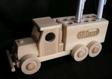 Stifthalter aus Holz, Werbeartikel aus Holz