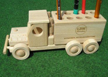Stifthalter für Autoständer, Werbeartikel aus Holz
