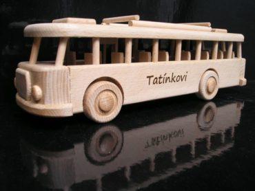 Busse Holzspielzeug, Geschenk für Busfahrer