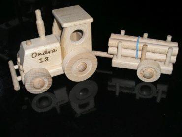 Traktor Spielzeuge Holzgeschenke für Schubkarrenfahrer, Holzspielzeug