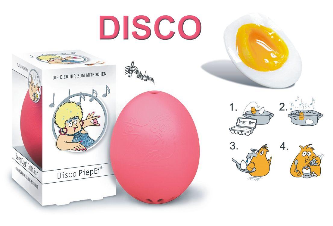 Eierkocher, Küchenuhr drei DISCO-Musikstücke