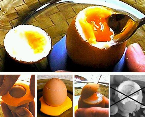 Öffner und Ständer, Tasse für gekochte Eier
