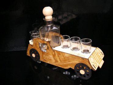 Geschenk Veteran Auto Flasche