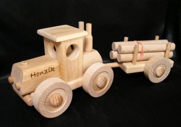 Holztraktor - Holzspielzeug - Spielzeug