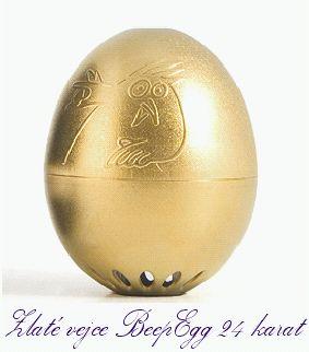 Goldenes Ei BeepEgg GOLD Eierkocher Minute zum Kochen von Eiernič vajec | minútka pre varenie vajíčok