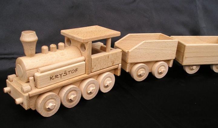Güterwagen für Dampflokomotive Holzspielzeug Geschenke für Fahrer