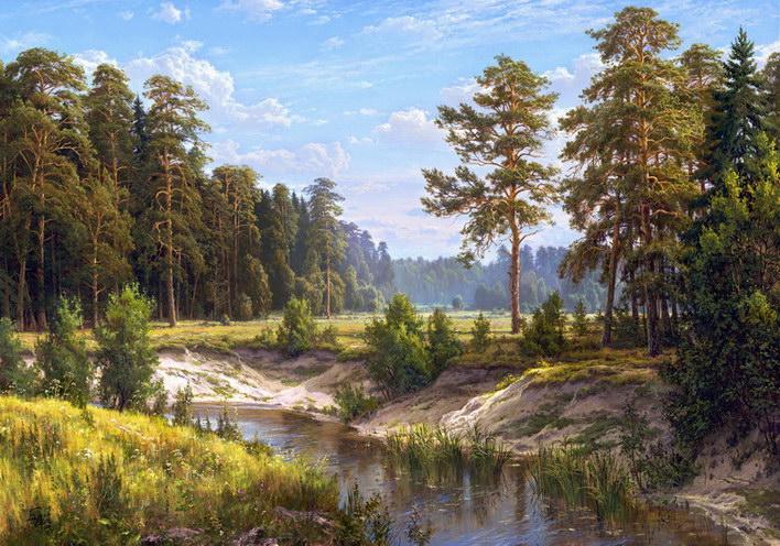 Naturlandschaftsreproduktionen Holzrahmen