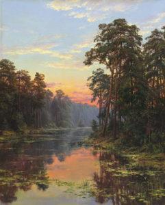priroda rieka krajina reprodukcie obrazov drevené ramy