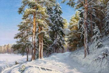 zima priroda krajina reprodukcie obrazov drevené ramyzov drevené retro rámy