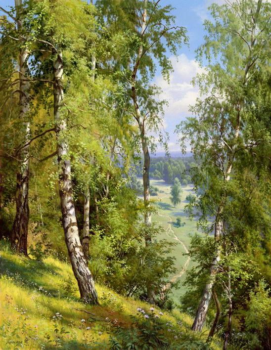 brezy priroda krajina reprodukcie obrazov drevené ramy