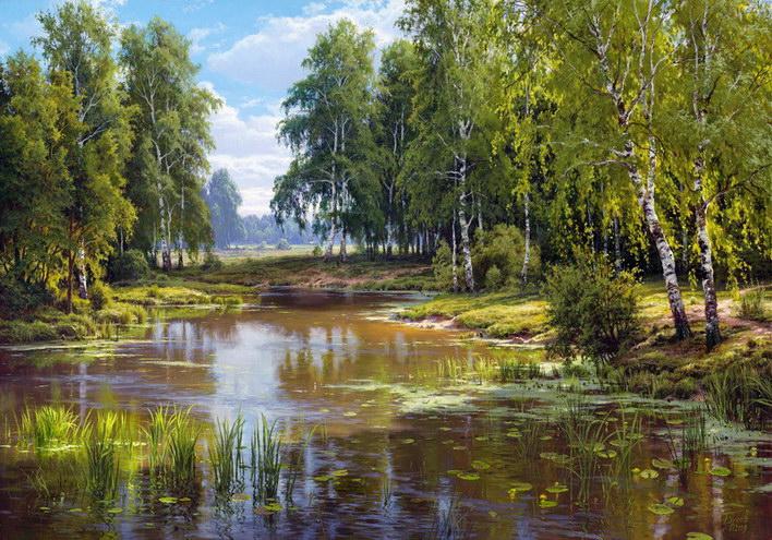 priroda krajina reprodukcie obrazov drevené ramyrevené retro rámy