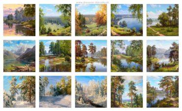 Reprodukcie obrazov ruských a východných maliarov krajin