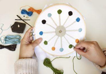 DIY vyšívané nástenné hodiny | detské vyšívanie | stavebnica