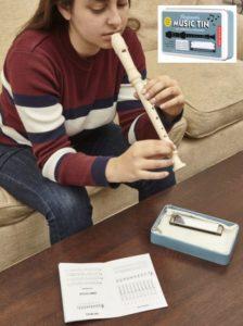 Musikinstrumente für Kinder Kinderpfeife und Blasakkordeon