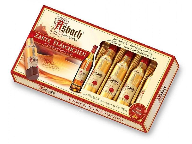 Pralinen Asbach Flaschen mit original BRANDY