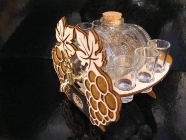 Glas großes Fass für Brandy Geschenk des Winzers